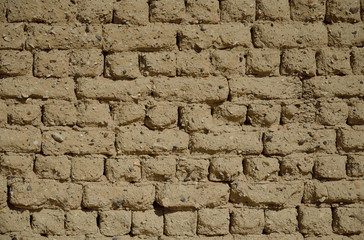 Ancient Egyptian mudbrick wall