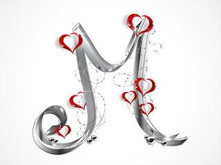 Grey letter M