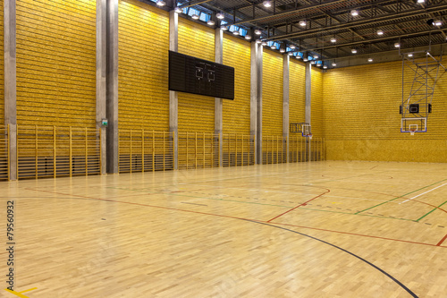 Foto op Canvas Stadion Image of a indoor basketball court at a school