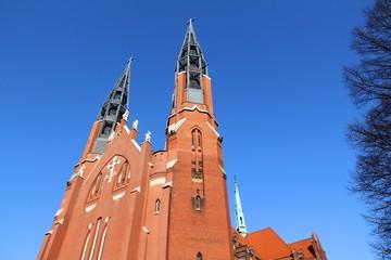 Sosnowiec, Poland - St Thomas church