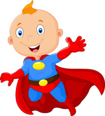 Cute baby superhero