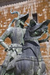 Pizarro staue in Trujillo, Spain