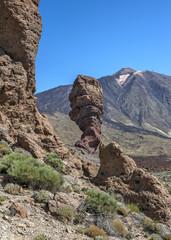 Canary Islands , Tenerife, volcano Teide. Rock the finger of God