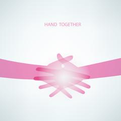 Handshake, Teamwork Hands.