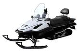 Modern white snowmobile - 79563128