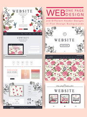 graceful one page website design template