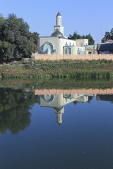 Mosque on the bank of the river