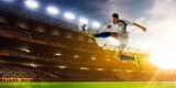 Soccer player in action poster