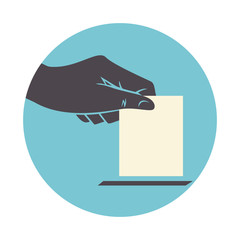 Hand voting, icon, vector illustration