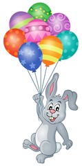 Rabbit with balloons theme image 4