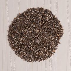 Circle of chia seeds