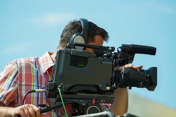 Cameraman is working