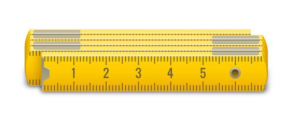 Mètre pliable vectoriel 1