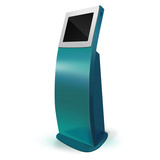 Interactive Information Kiosk Terminal Stand Touch Screen