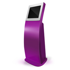 Interactive Information Kiosk Terminal Stand Touch Screen Displa