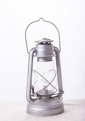 new kerosene lamp on a white background