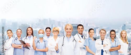 Leinwanddruck Bild team or group of doctors and nurses