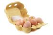 Leinwanddruck Bild - Braune Hühnereier im Eierkarton