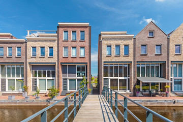 Newly build contemporary houses in The Netherlands