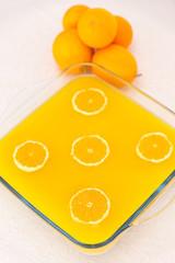 Dessert mit Orangen