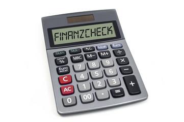Taschenrechner mit Finanzcheck