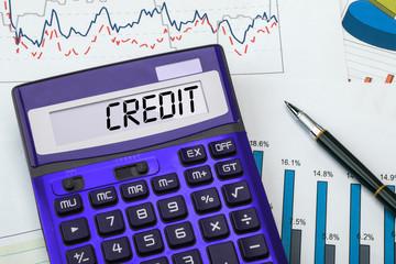 credit on calculator