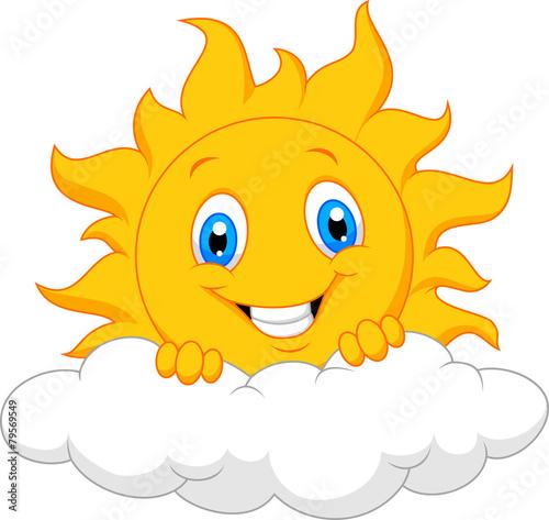 Happy sun behind the cloud