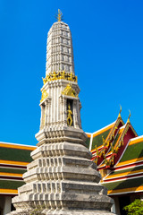 Chedi at Wat Pho temple in broad daylight, Bangkok, Thailand