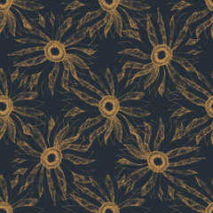 vintage cute flower pattern background