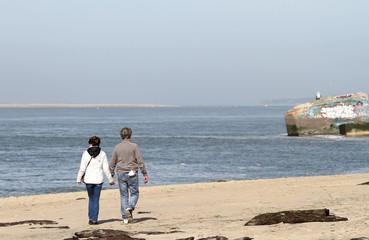 promenade en bord de mer,bassin d'arcachon