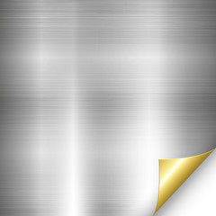 Silver Metal Background Gold Corner