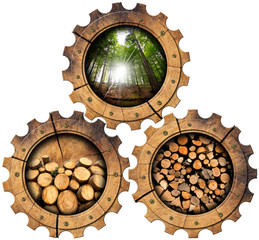 Lumber Industry - Wooden Gears