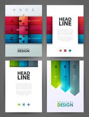 Set of brochure design templates. Design elements.