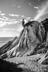 Sandstone cliffs forming strange shapes and textures