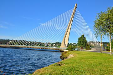 Puente de los Tirantes, río Lérez, Pontevedra, España