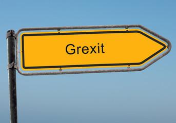 Strassenschild 38 - Grexit