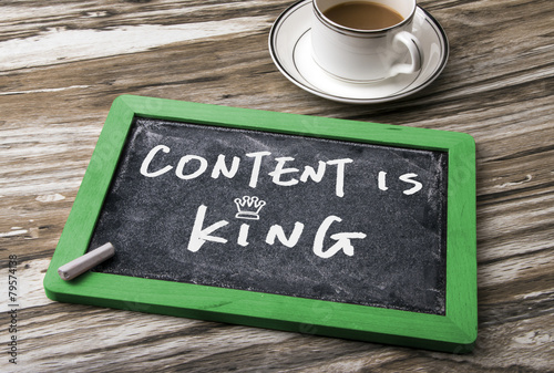 content is king handwritten - 79574138