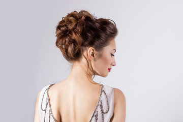 women  in the image of the bride beautiful wedding hairstyle
