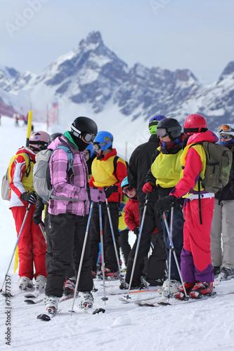 Papiers peints Glisse hiver Skieurs-9498