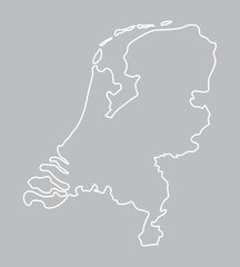 abstract outline of Netherlands map