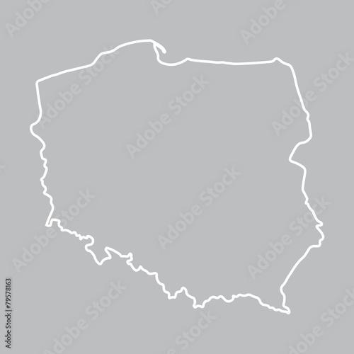 abstrakcyjny zarys mapy Polski