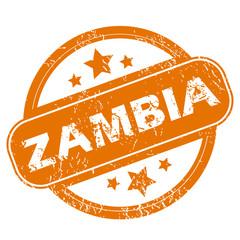 Zambia grunge icon