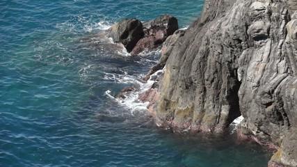 Scenes of the Italian coastal town Riomaggiore.