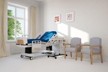 Leeres Krankenzimmer in einer Klinik