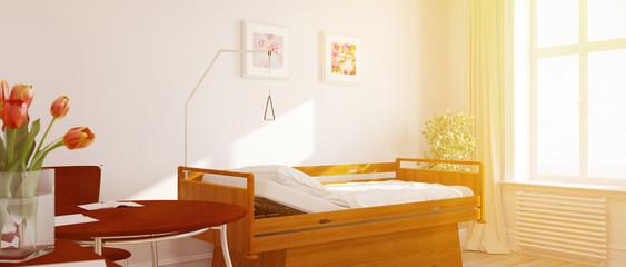 Sonniges Einzelzimmer im Pflegeheim