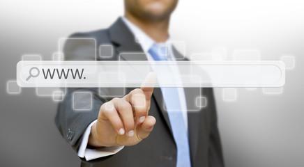 Businessman internetconcept