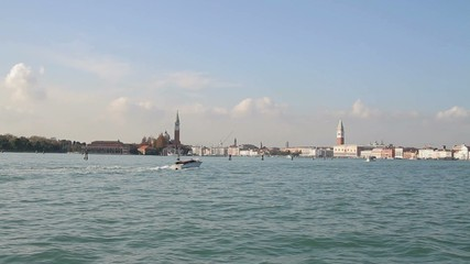 Skyline and view of Venice from Grand Canal