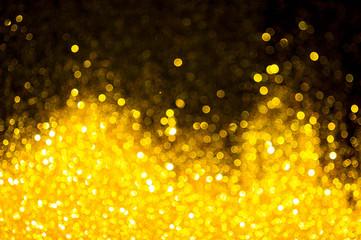 Bokeh gold colour abstract.