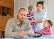 Leinwanddruck Bild - Financial problems in family
