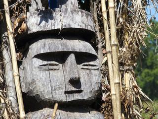 Totem einer traditionellen Mapuche-Heilerin